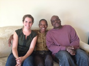Kierstin Quinsland, Debra Stotland Bowden and Anthony Bowden. A year and three months ago, Debra and Anthony were placed in permanent supportive housing after being homeless. (Courtesy Miriam's Kitchen)