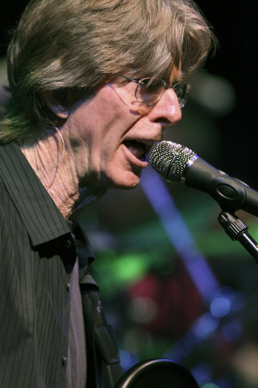 FILE - This May 9, 2009 file photo bassist Phil Lesh performs with The Dead, performs at the Forum in the Inglewood section of Los Angeles. Lesh says he has been diagnosed with bladder cancer and is being treated in Arizona. The 75-year-old bassist announced his illness Friday, Oct. 16, 2015, on the Facebook page of his San Rafael restaurant and concert hall, Terrapin Crossroads. (AP Photo/Richard Vogel, File)
