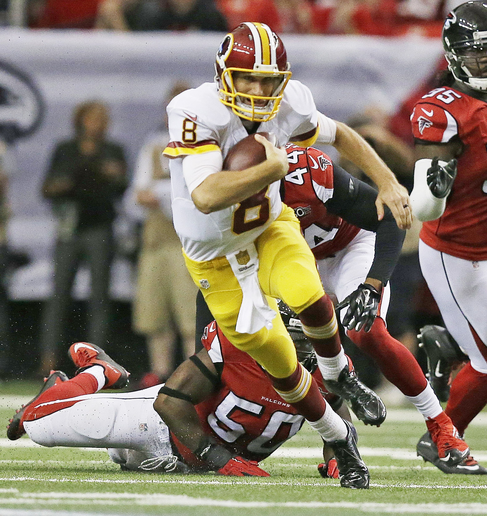 Redskins find poise and pain in OT loss to Falcons