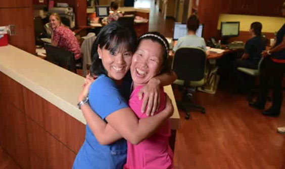 Orphaned sisters reunite decades later working at hospital