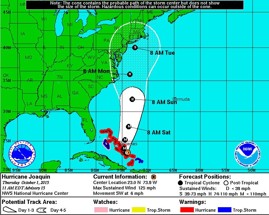 NWS meteorologist: D.C. area in 'threat zone' of Joaquin