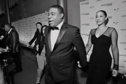 Tracy Morgan and his wife, Megan Wollover, were on the red carpet Oct. 18, 2015 to honor Eddie Murphy. (Courtesy Shannon Finney, www.shannonfinneyphotography.com)