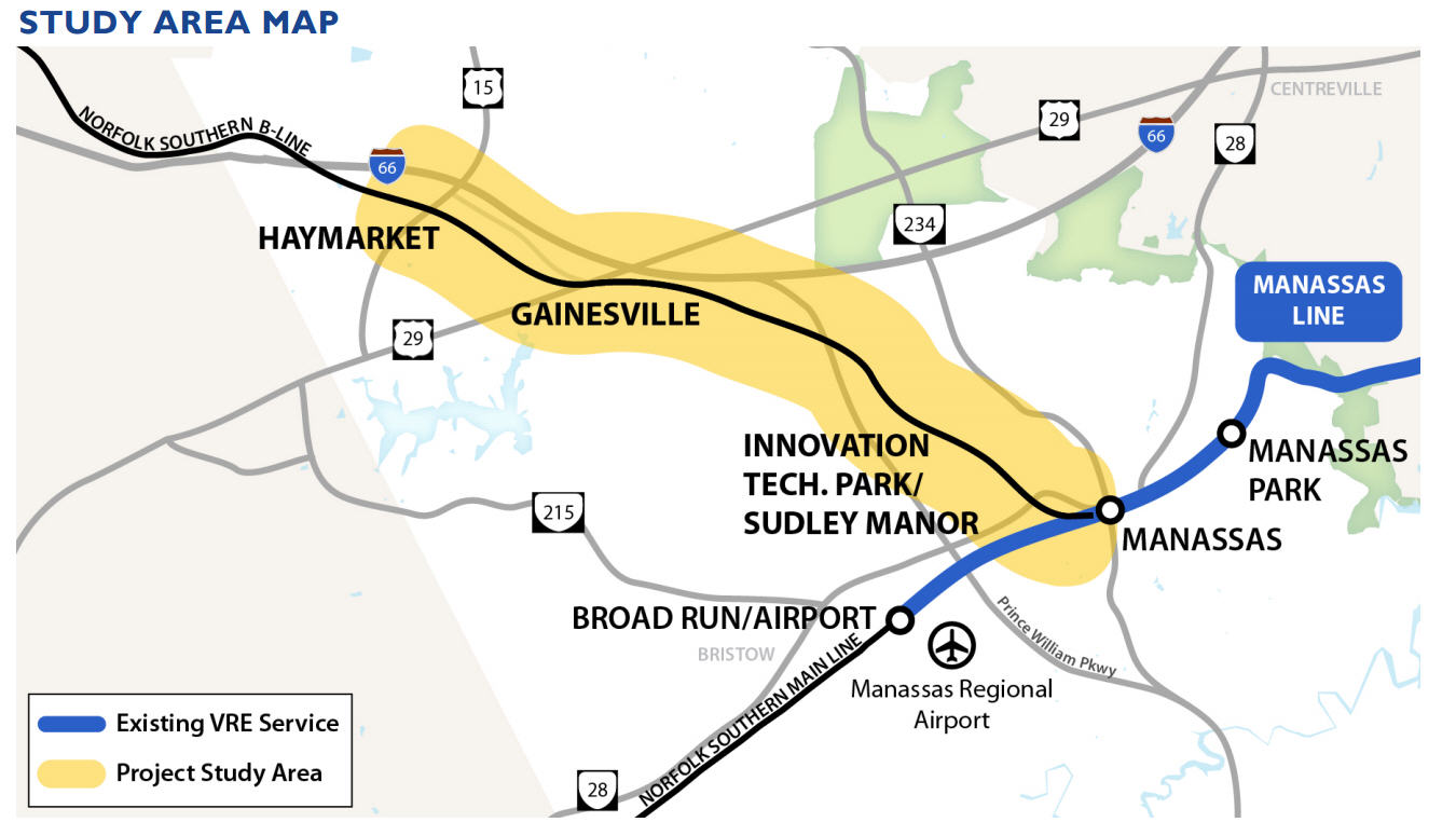 VRE extension plans are moving forward, but trains to Gainesville a long way off