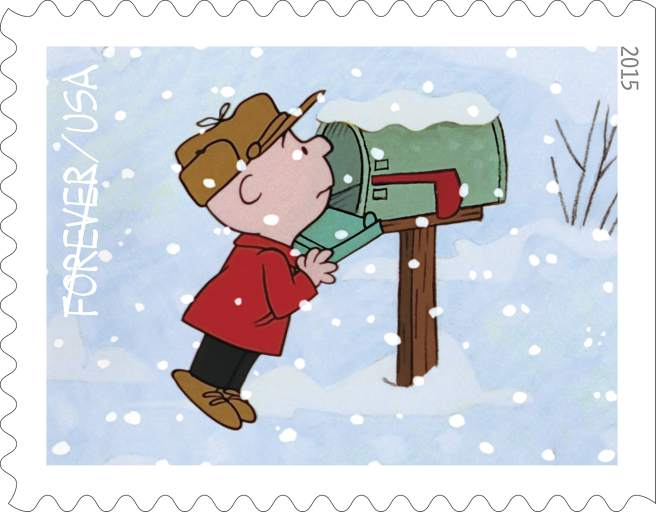 'Charlie Brown Christmas' stamps to go on sale