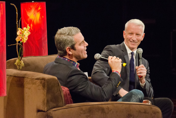 News And Reality TV Collide As Anderson Cooper Andy Cohen Hit Warner Theatre