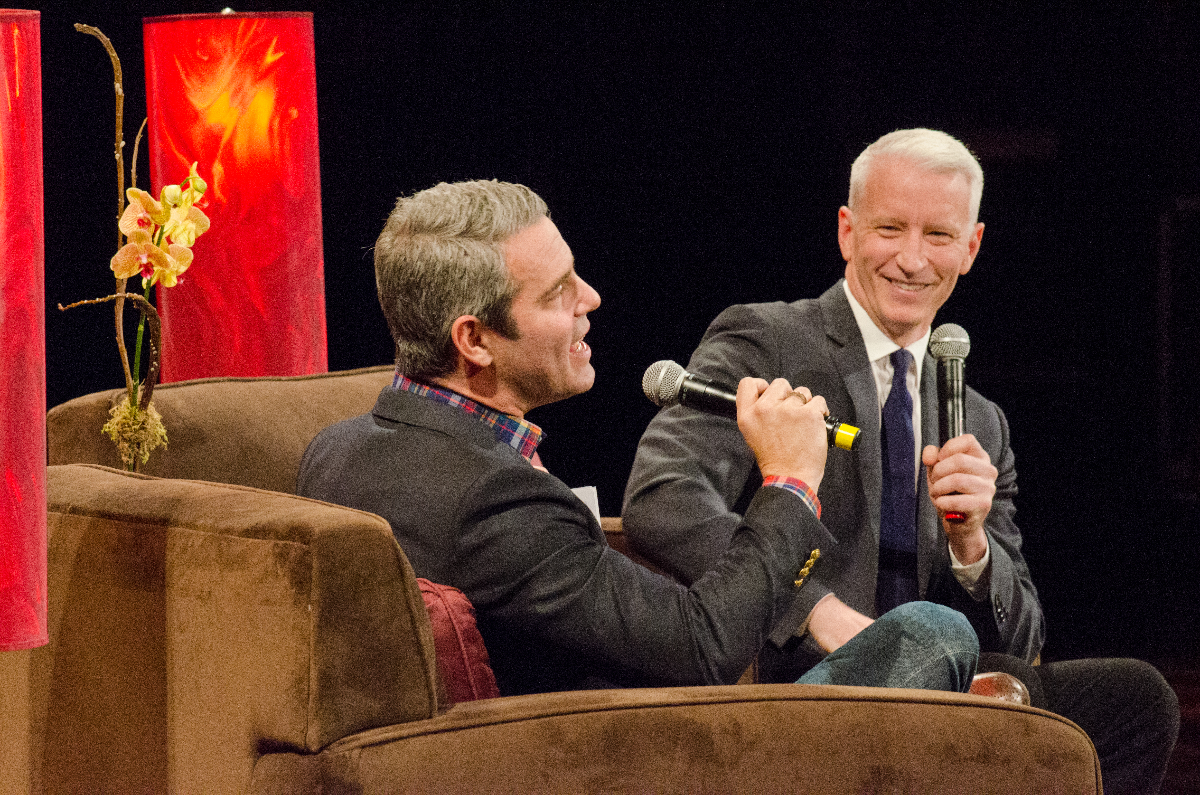 News and reality TV collide as Anderson Cooper & Andy Cohen hit Warner Theatre
