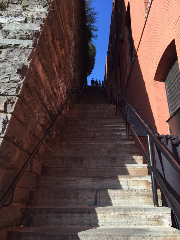 Photos: Georgetown 'Exorcist Stairs' honored with plaque