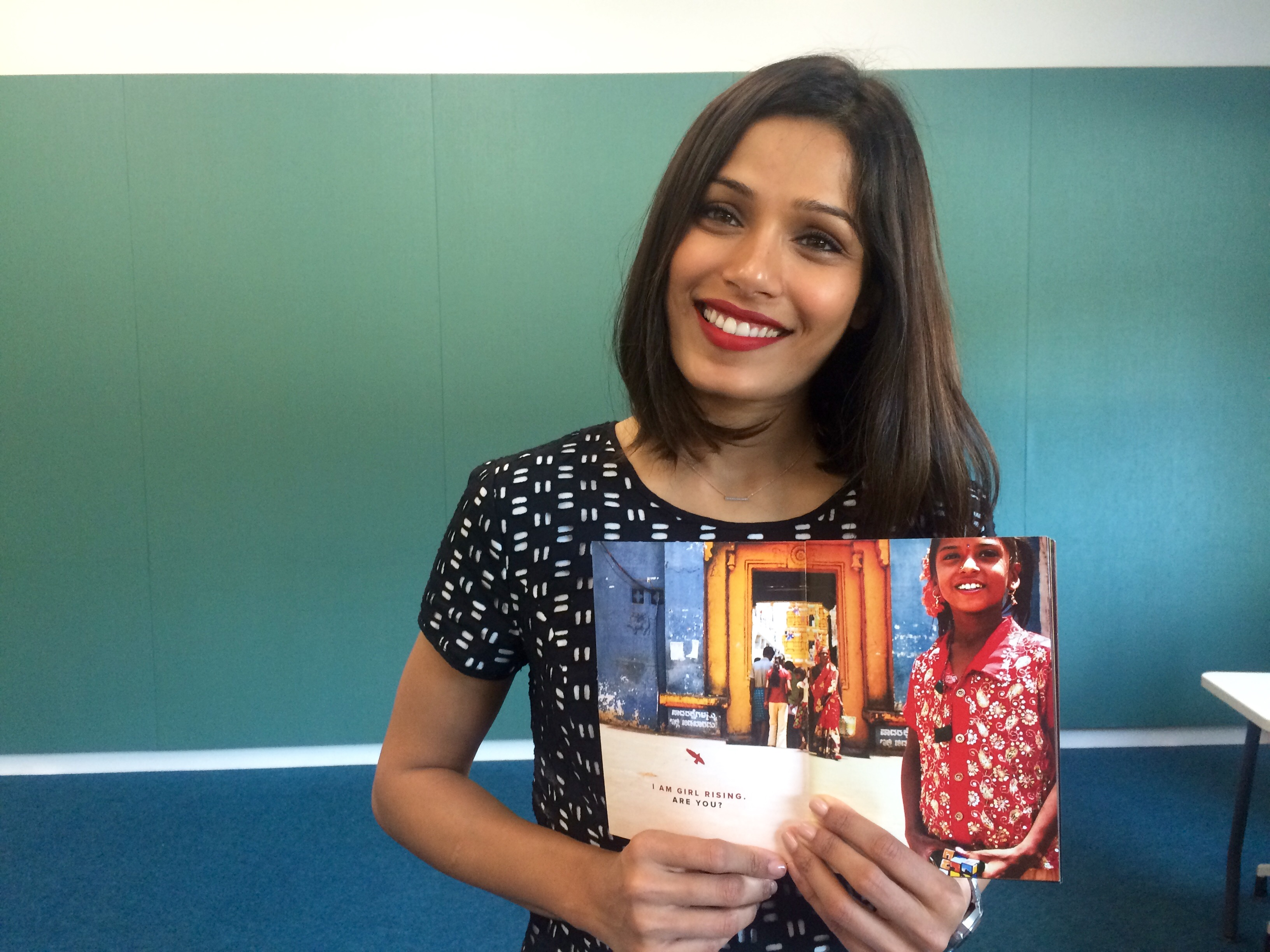 'Slumdog' star hits DC to promote girls rights in India