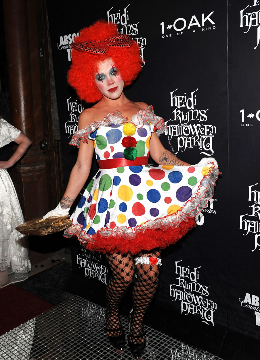 Singer Pink attends Heidi Klum's annual Halloween party at 1Oak on Friday, Oct. 31, 2008 in New York. (AP Photo/Evan Agostini)