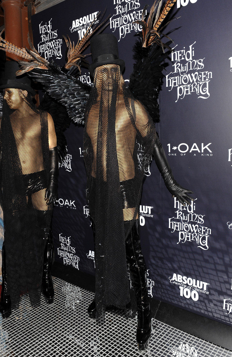 Fashion designer Marc Bouwer attends Heidi Klum's annual Halloween party at 1Oak on Friday, Oct. 31, 2008 in New York. (AP Photo/Evan Agostini)
