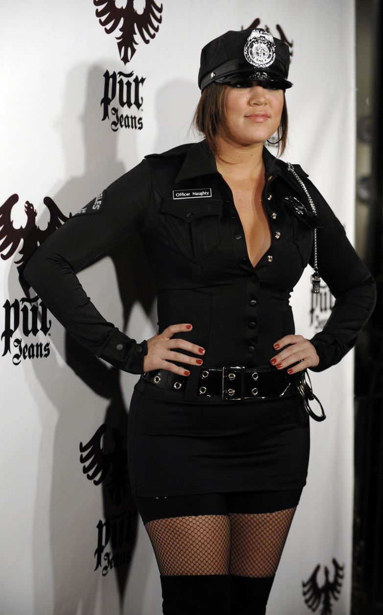 Khloe Kardashian arrives for the Pur Jeans Halloween Bash in Los Angeles, Friday, Oct. 31, 2008. (AP Photo/Chris Pizzello)