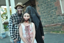 Shocktober is a family affair for George, Mary and their daughter Brigid Pellicano. (Courtesy Shannon Finney, www.shannonfinneyphotography.com)