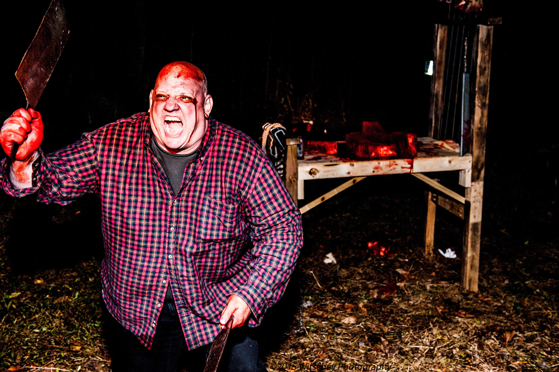 The Clifton Haunted Trail has been a town tradition since 2001, and over the years it's grown from a small path lit by flashlights, to a production that involves 15 generators, more than 200 volunteers, 24 skits and months of advanced planning and preparation.  (Courtesy Witschey Photography)