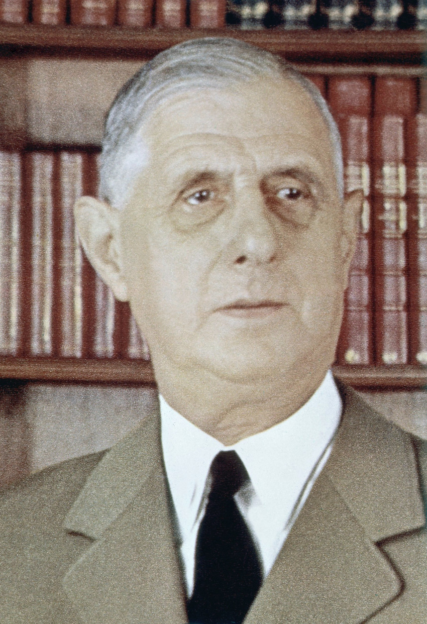 French President Charles De Gaulle is shown, March 31, 1960. (AP Photo)