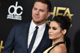 Channing Tatum, left, and Jenna Dewan Tatum arrive at the Hollywood Film Awards at the Beverly Hilton Hotel on Sunday, Nov. 1, 2015, in Beverly Hills, Calif. (Photo by Jordan Strauss/Invision/AP)