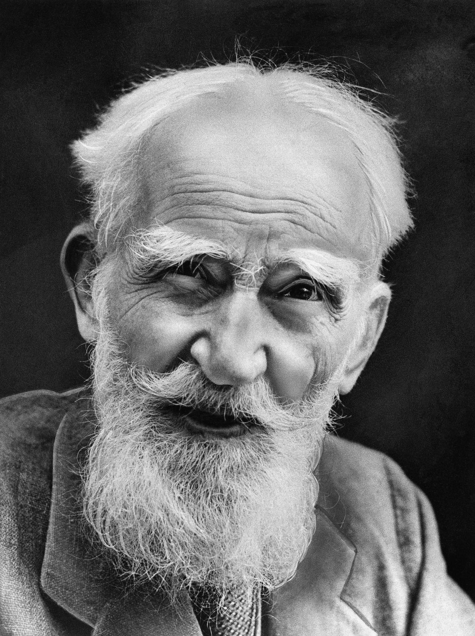 George Bernard Shaw lapsed into unconsciousness Nov 1, 1950 and was believed close to death. The 94-year-old playwright has been getting weaker since an operation seven weeks ago to pin together a thigh bone he broke when he slipped in his garden. (AP Photo)