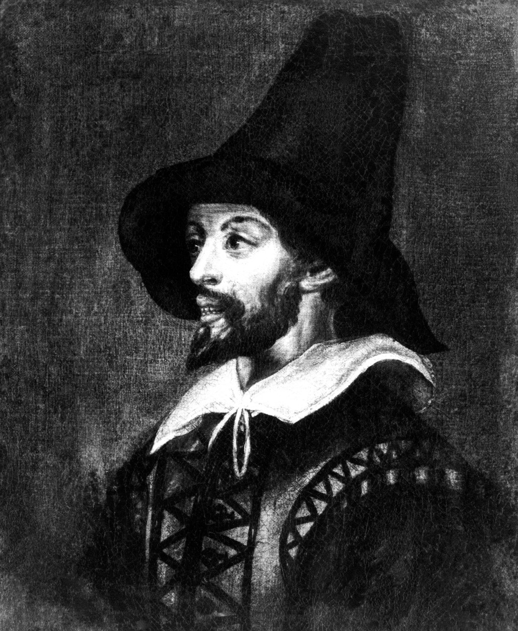 """A portrait of Guy Fawkes, shown Feb. 21, 1977, showing him gaunt from torture after discovery of the Gunpowder Plot of 1606, which is to be sold at Sothebys on March 9. It was done anonymously during """"one of his examinations"""" --  the interrogation torture at the Tower after his arrest. Fawkes was tortured extensively to reveal the names of the other plotters and his crushed fingers could barely sign the confession which is in the Public Record Office. The portrait is expected to fetch between £200 - £400. (AP Photo/Press Association)"""