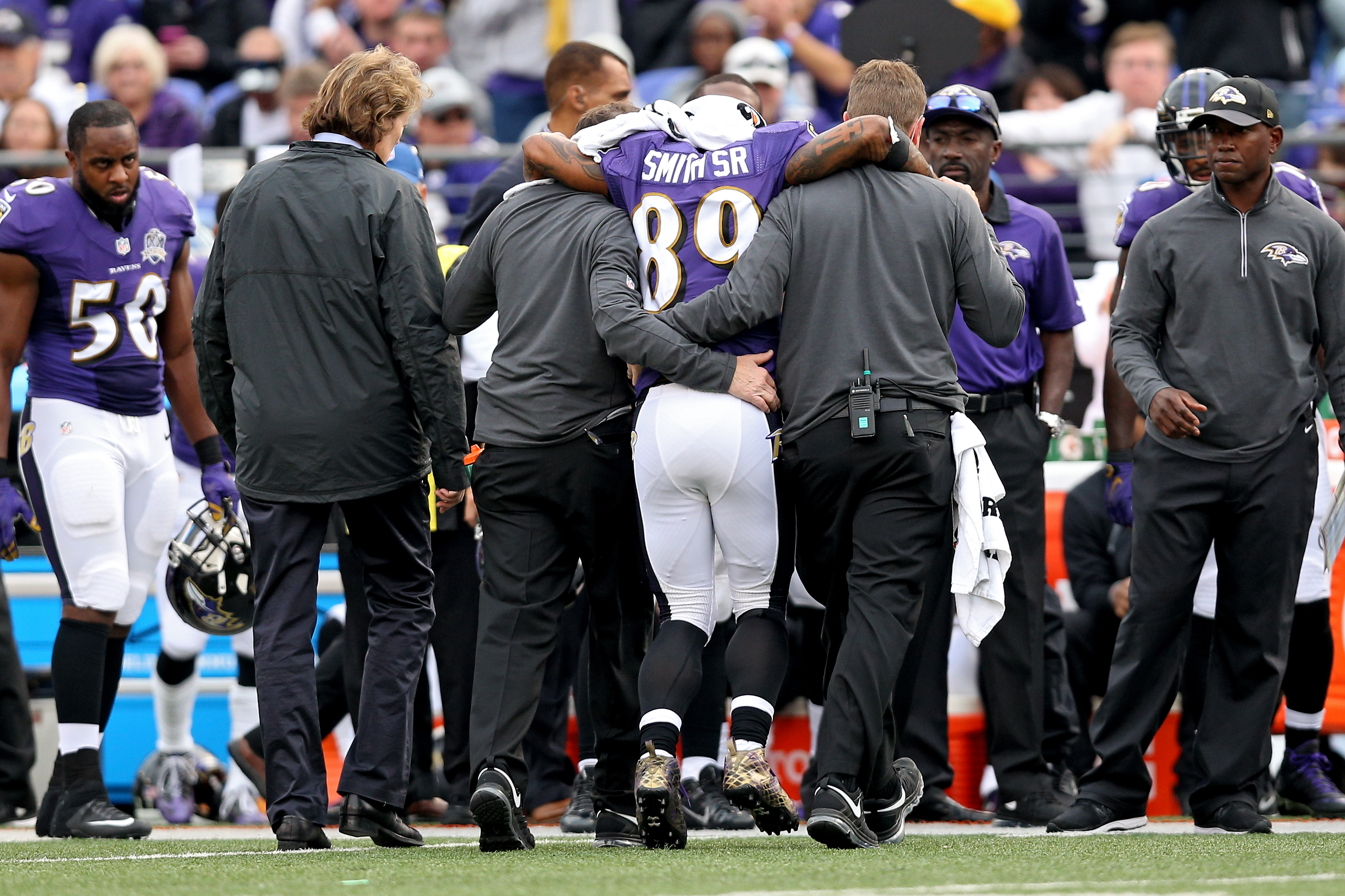 Ravens' Smith is down, but not out