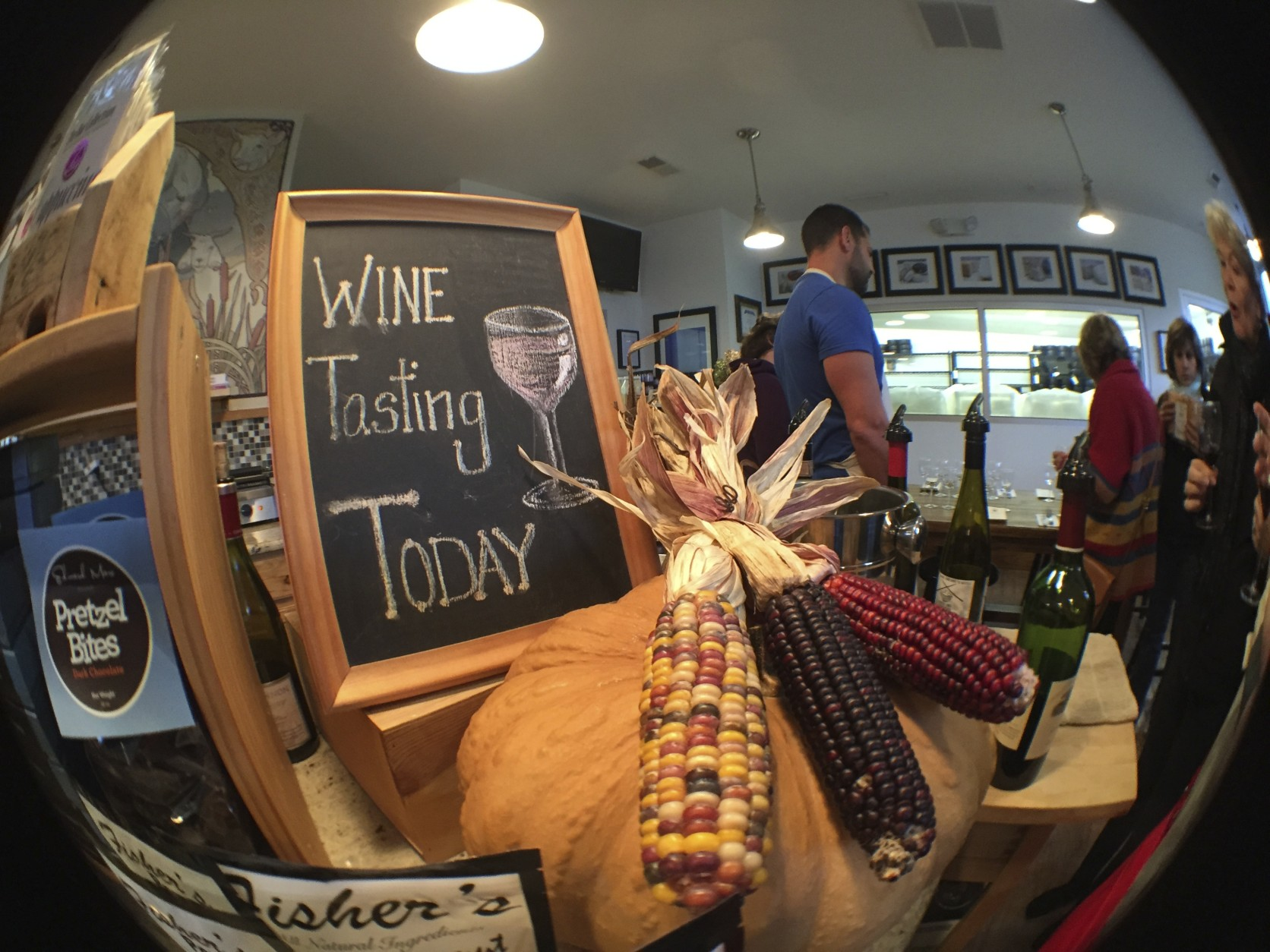 Wine and cheese tastings are a regular part of the experience of a visit to the shop in Garrett County, Maryland. (WTOP/Kate Ryan)