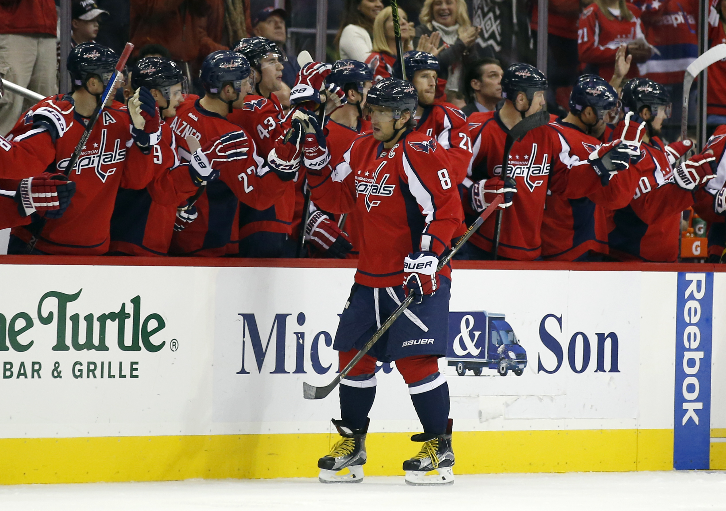 Alex Ovechkin ties record