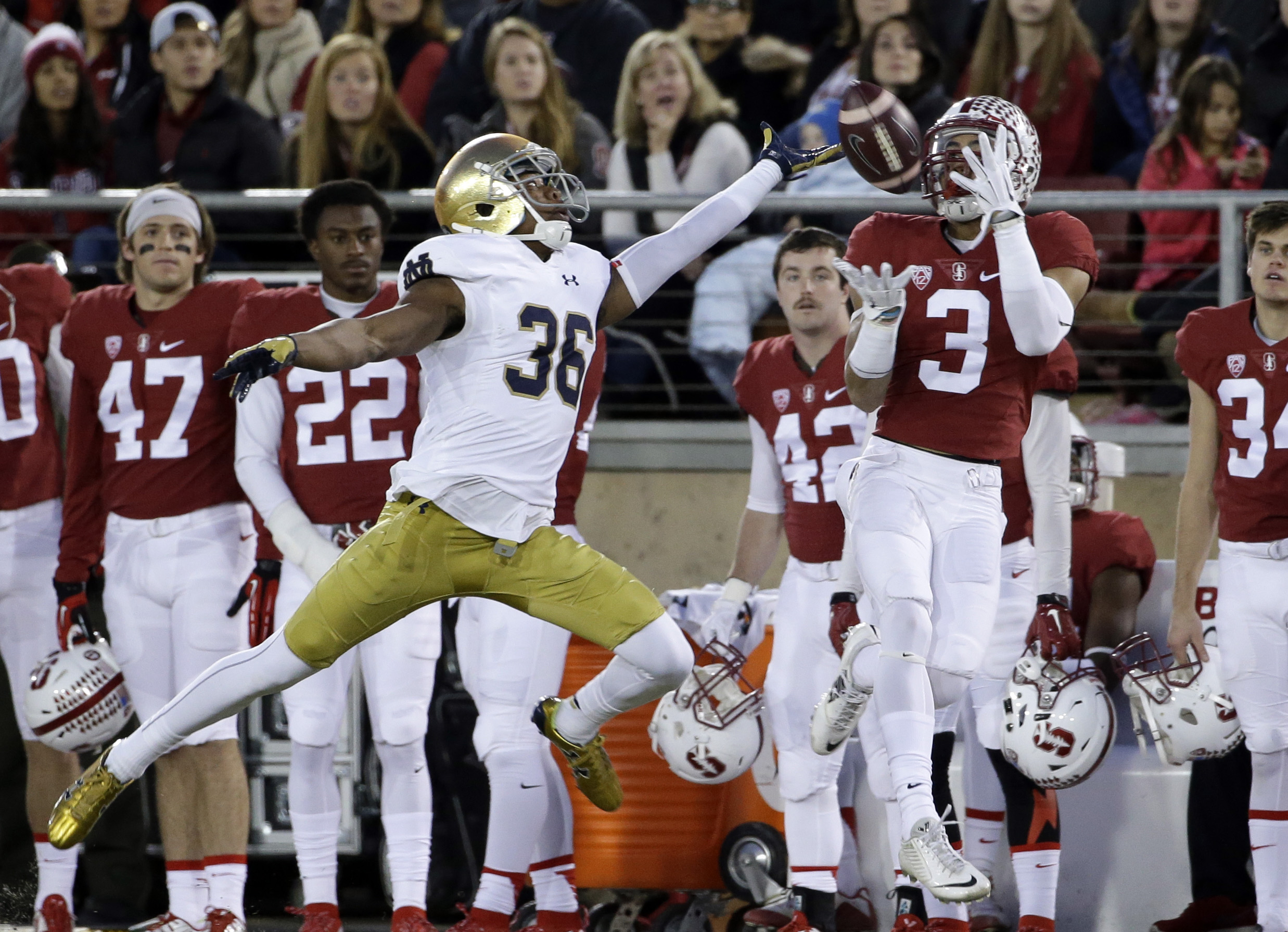 stanford notre dame score www college football