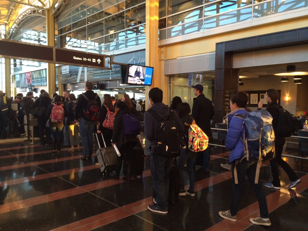 Airline passengers encounter extra security amid travel alert