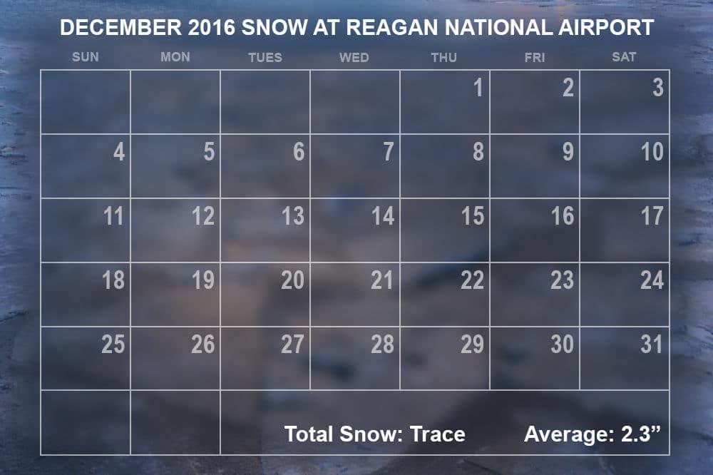 December 2016 snowfall. (WTOP/Dave Dildine)