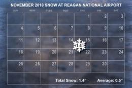 November 2018 snow. (WTOP/Dave Dildine)