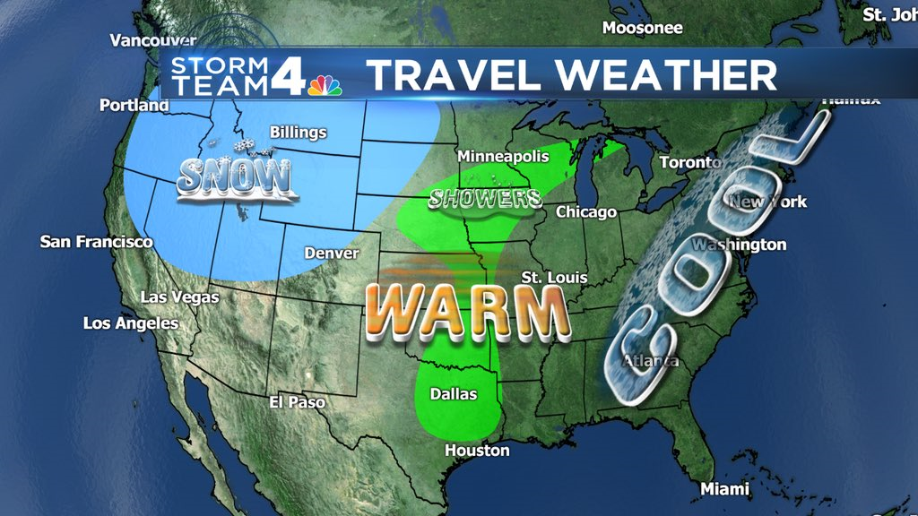 Traveling for Thanksgiving? Here's the nationwide weather outlook