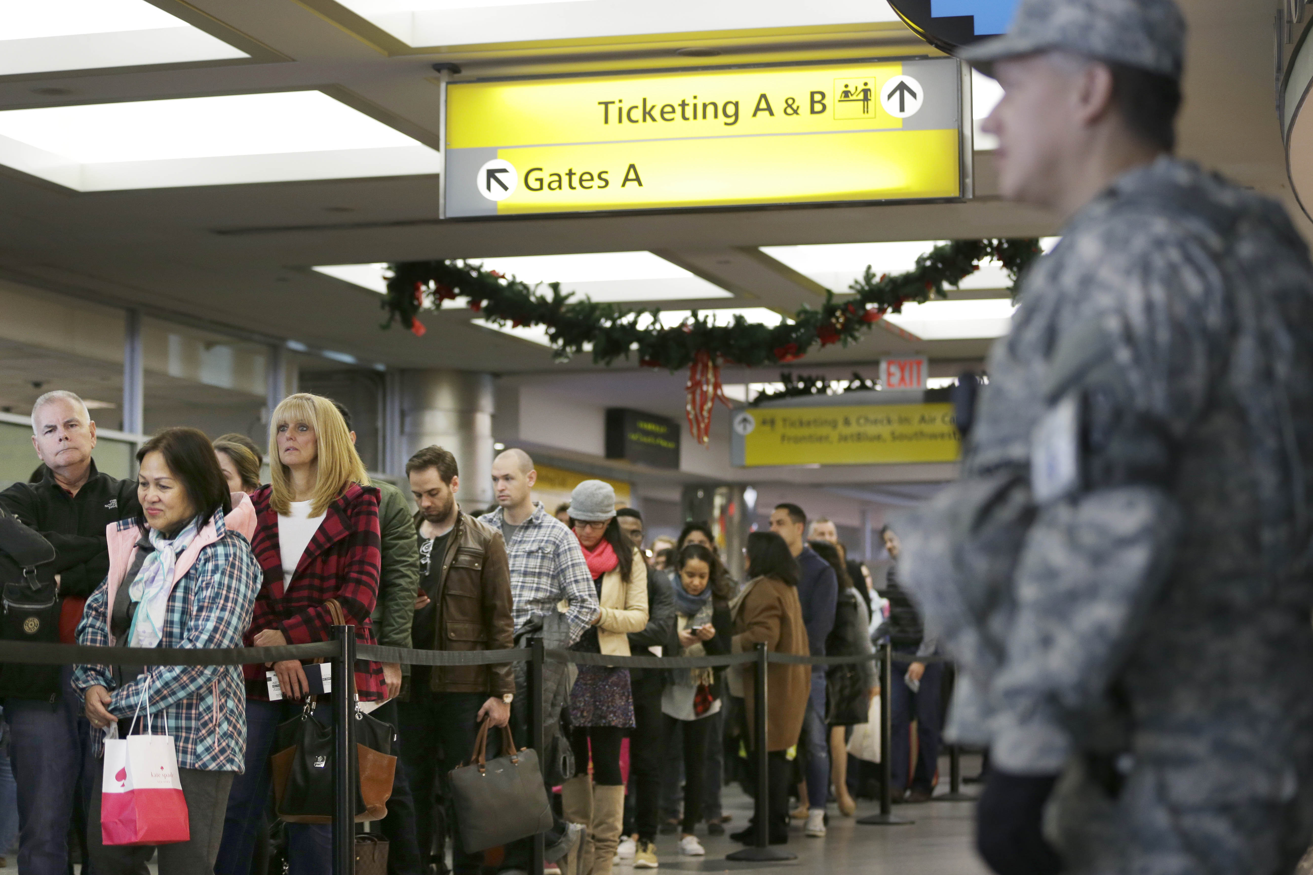 A tip to get through tight airport security faster