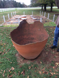 A qvevri is an ancient clay vessel that was originally used to make wine in Georgia.  Sebastian Zutant used a qvevri to make his rosé cider. (Courtesy Sebastian Zutant)