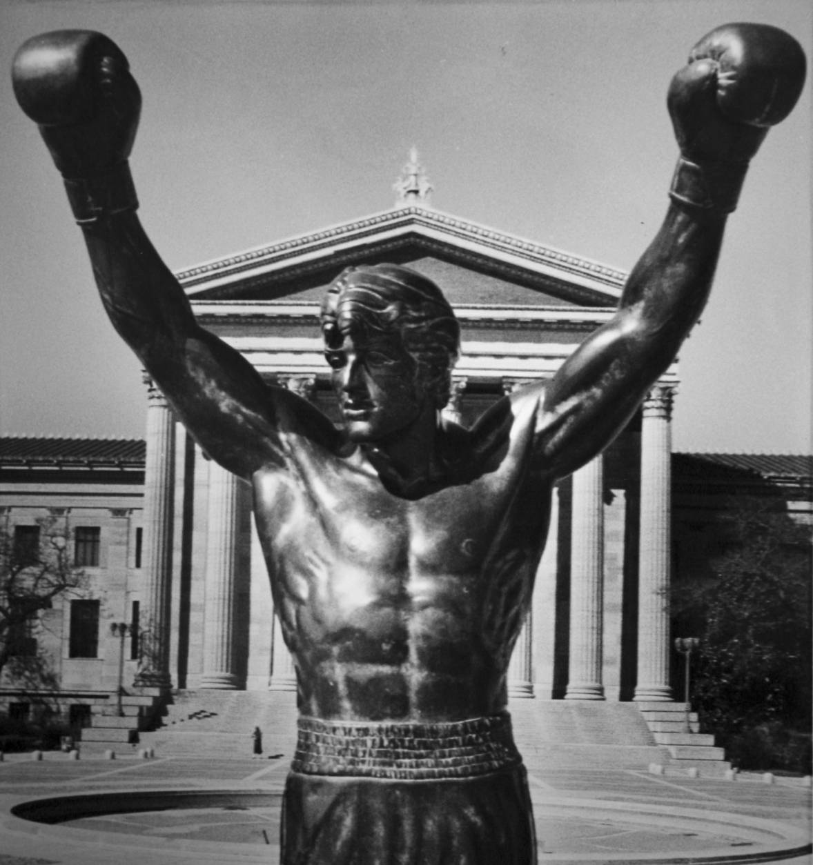 """In 1976, the boxing drama """"Rocky,"""" a United Artists release starring Sylvester Stallone as a journeyman fighter who's given the chance to face the heavyweight champion, premiered in New York.  (AP Photo/Amy Sancetta)"""