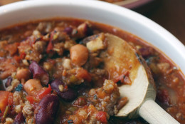 ** FOR USE WITH AP WEEKLY FEATURES ** Whiteface Mountain Chili, from  Kenneth Class at Olympic Sports Complex in Lake Placid, N.Y. will warm you up after a day on the slopes. (AP Photo/Larry Crowe)