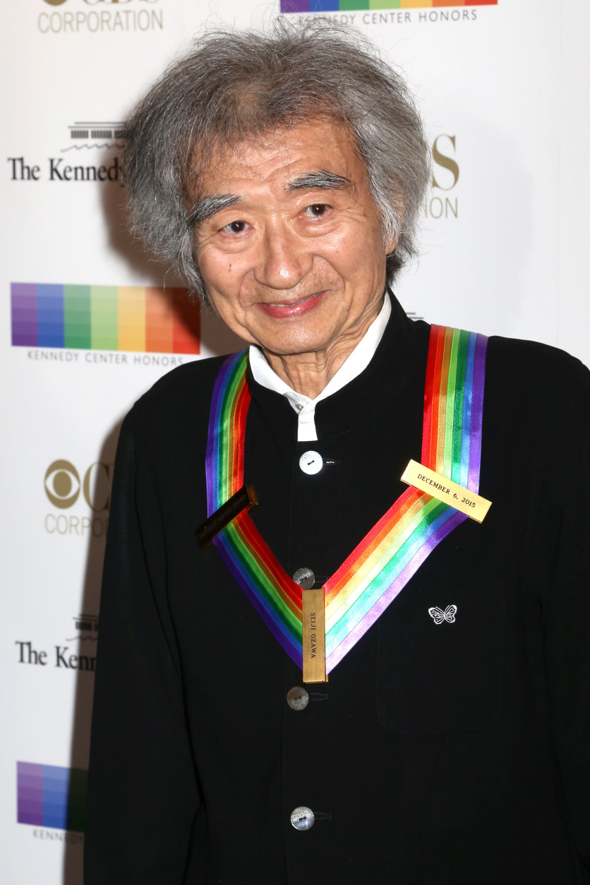 2015 Kennedy Center Honoree Seiji Ozawa attends the 38th Annual Kennedy Center Honors at The Kennedy Center Hall of States on Sunday, Dec. 6, 2015, in Washington. (Photo by Greg Allen/Invision/AP)