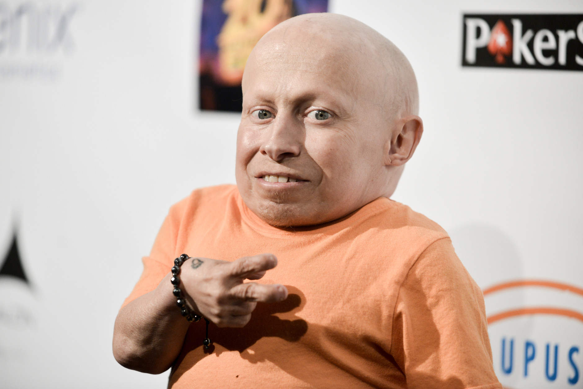 Verne Troyer arrives at the 6th Annual Get Lucky For Lupus Poker Tournament on Thursday, Sept. 18, 2014, in Los Angeles. (Photo by Richard Shotwell/Invision/AP)