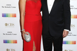 Julie Chen, left, and Les Moonves attend the 38th Annual Kennedy Center Honors at The Kennedy Center Hall of States on Sunday, Dec. 6, 2015, in Washington. (Photo by Greg Allen/Invision/AP)