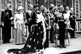 Dutch Queen Juliana,  with Prince Bernhard, is seen in this September 1948  photo, during her official inauguration ceremony as queen of the Netherlands in New Church in Amsterdam. Juliana, the popular queen mother of the Netherlands, who presided over the dismantling of the centuries-old Dutch empire and witnessed the birth of a social revolution during her 31-year reign, died as a result of pneumonia early Saturday morning March 20, 2004, at the age of 94. (AP Photo/NFP)