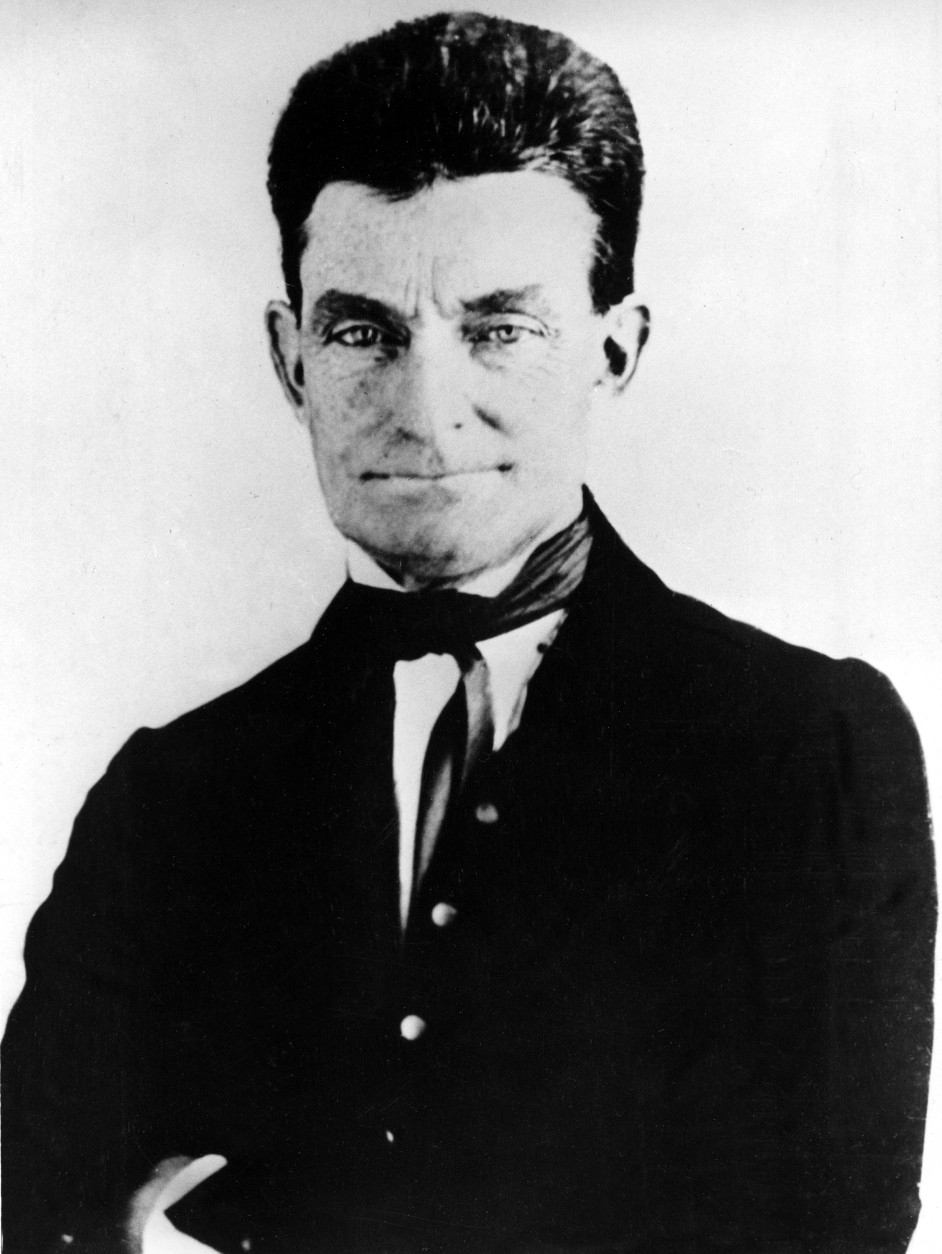 FILE - John Brown, leader of the historic raid on the federal arsenal and armory at Harpers Ferry, Virginia, is seen in this 1857 picture.   An important piece of Civil War history is going on the auction block, the 19th century mansion that sits on the  land where abolitionist John Brown was hanged more than 150 years ago.  Although the house was built 30 years after Brown's execution, the site is well known. It even hosts re-enactments of the hanging. The actual execution site is outside, is marked by a white obelisk with a plaque.   (AP Photo)