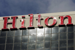 FILE - The sign atop the Hilton Los Angeles Airport hotel is seen in this Wednesday, Jan. 31, 2007 file photo. The McLean, Va. company, founded in 1919, was taken private by investment firm The Blackstone Group in October 2007. (AP Photo/Reed Saxon, File)