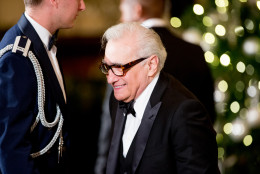 Director Martin Scorsese arrives at the 2015 Kennedy Center Honors reception in the East Room of the White House, Sunday, Dec. 6, 2015, in Washington. The 2015 Kennedy Center Honors Honorees are singer-songwriter Carole King, filmmaker George Lucas, actress and singer Rita Moreno, conductor Seiji Ozawa, and actress Cicely Tyson. (AP Photo/Andrew Harnik)