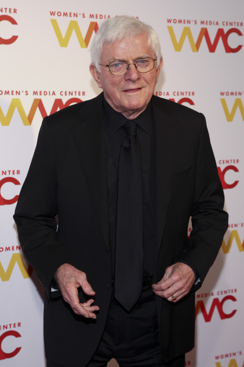 Phil Donahue attends The Women's Media Center 2015 Women's Media Awards at Capitale on Thursday, Nov. 5, 2015, in New York. (Photo by Andy Kropa/Invision/AP)