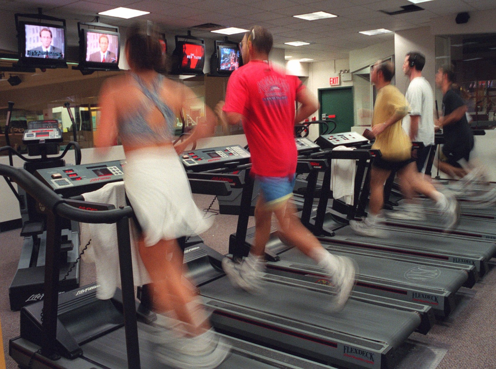 Here are six tips for making the most of your time on the treadmill.  (AP Photo/Mark Lennihan)