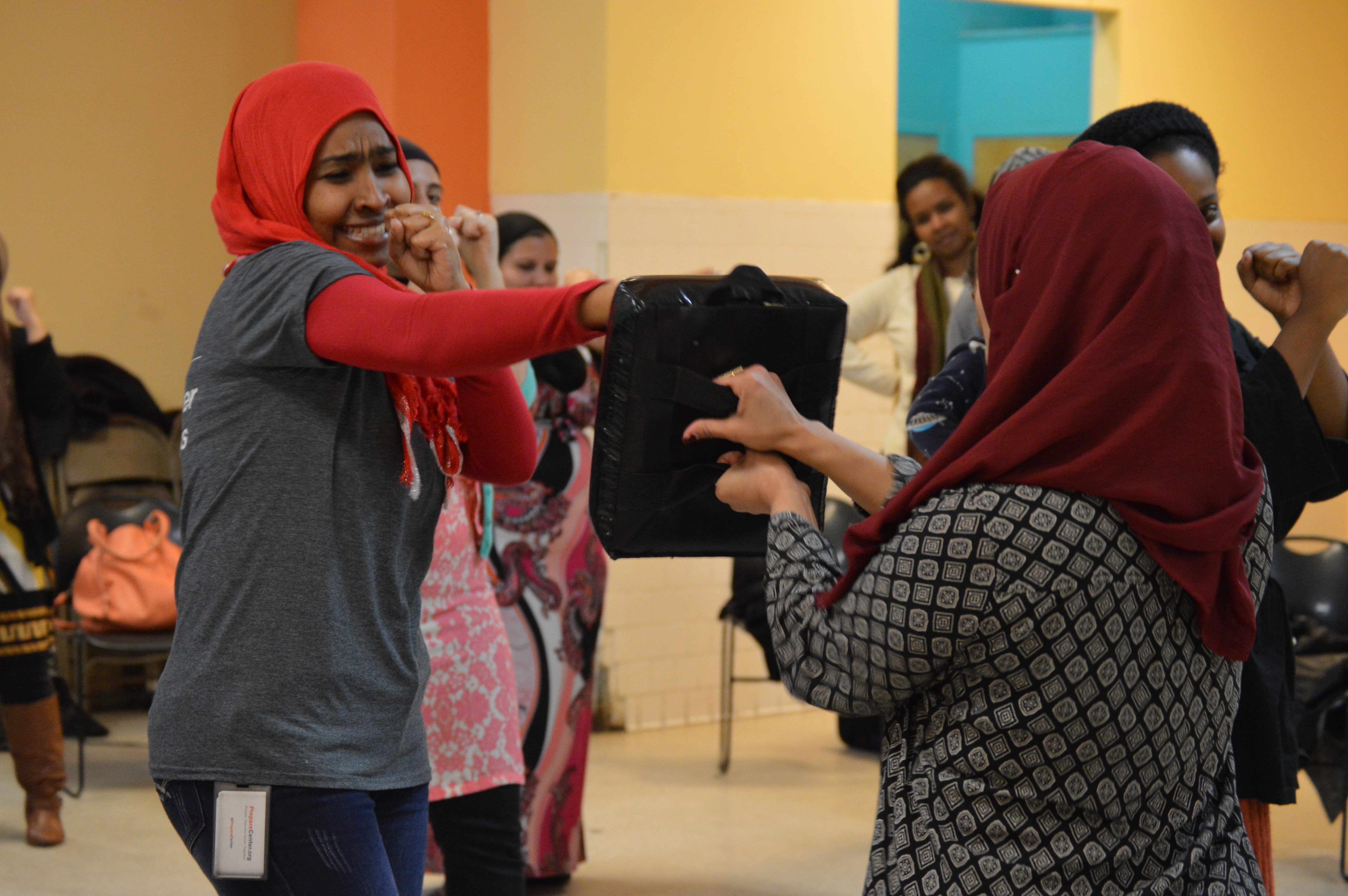 Local Muslim women fight fear with self-defense lesson