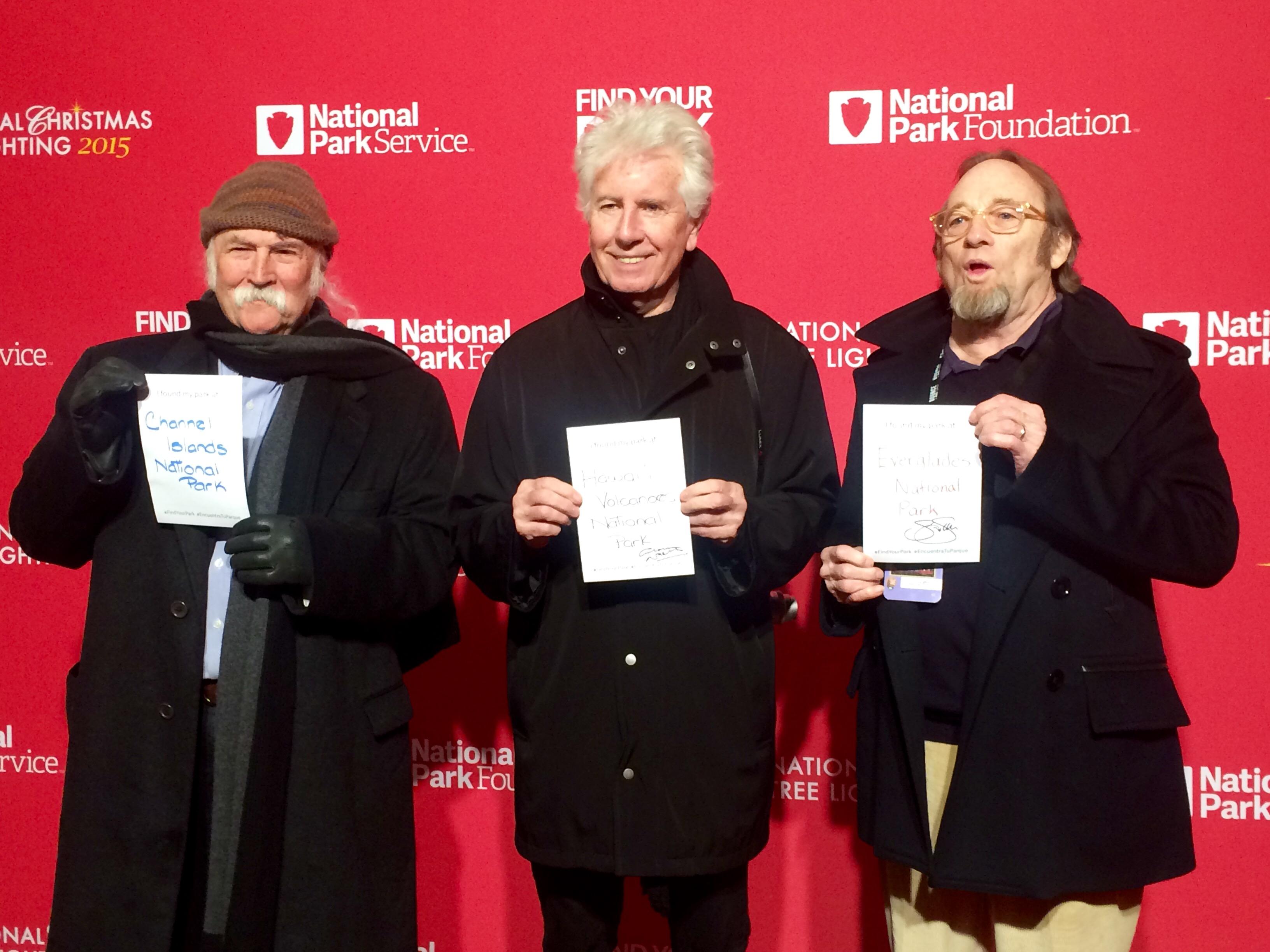 Crosby, Stills & Nash seek 'peace on earth' at tree lighting