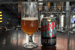 WTOP's Brennan Haselton is joined by Greg Engert to talk about Union Double Duckpin Double IPA for the latest edition of WTOP's Beer of the Week. (WTOP/Brennan Haselton)