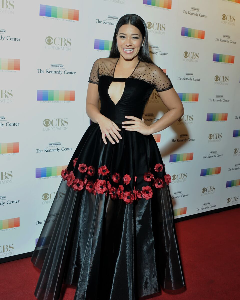 "Gina Rodriguez, star of ""Jane the Virgin,"" is seen here at the 38th annual Kennedy Center Honors. (www.shannonfinneyphotography.com)"