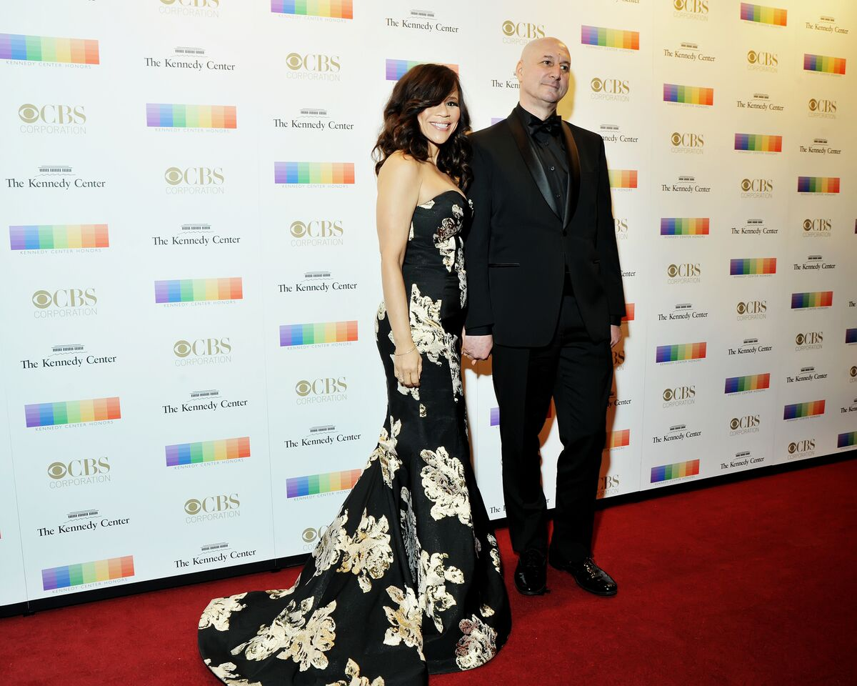 Rosie Perez is pictured here wit her husband, Eric Haze. (Courtesy Shannon Finney, www.shannonfinneyphotography.com)
