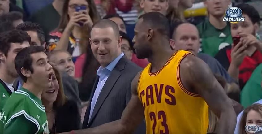 LeBron James surprises Special Olympian during game (Video)