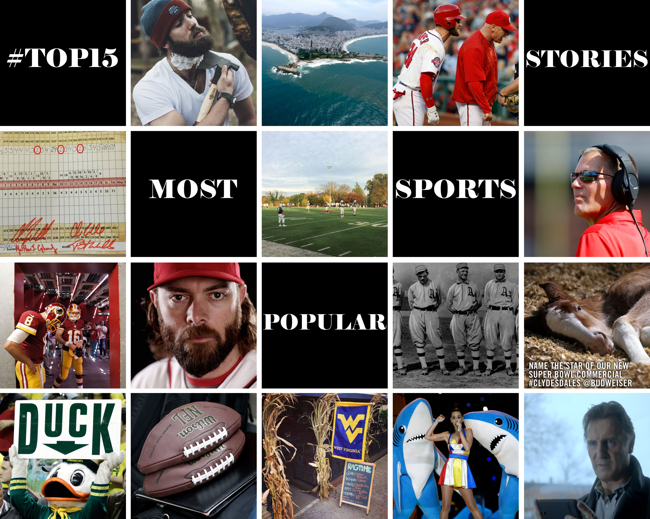 #TOP15 most popular sports stories of 2015