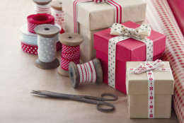 Gift boxes and wrapping paper rolls
